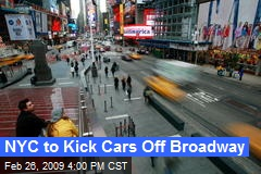 NYC to Kick Cars Off Broadway