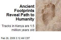 Ancient Footprints Reveal Path to Humanity
