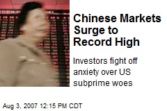 Chinese Markets Surge to Record High
