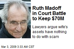 Ruth Madoff in Court Battle to Keep $70M