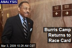 Burris Camp Returns to Race Card