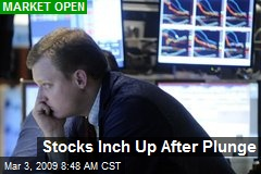 Stocks Inch Up After Plunge