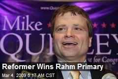 Reformer Wins Rahm Primary