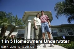 1 in 5 Homeowners Underwater
