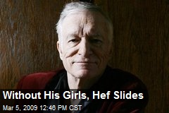 Without His Girls, Hef Slides