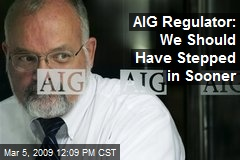 AIG Regulator: We Should Have Stepped in Sooner