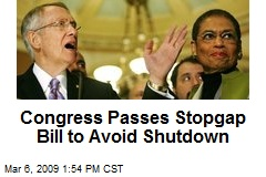 Congress Passes Stopgap Bill to Avoid Shutdown