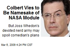 Colbert Vies to Be Namesake of NASA Module