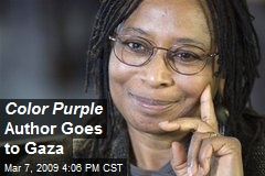 Color Purple Author Goes to Gaza