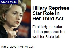Hillary Reprises Star Role in Her Third Act