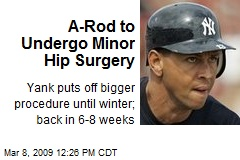 A-Rod to Undergo Minor Hip Surgery
