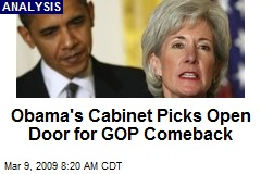 Obama's Cabinet Picks Open Door for GOP Comeback