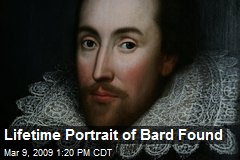 Lifetime Portrait of Bard Found