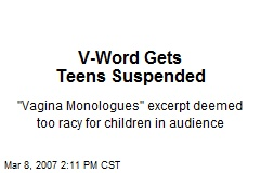 V-Word Gets Teens Suspended
