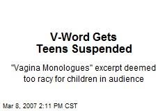 V-Word Gets Teens Suspended
