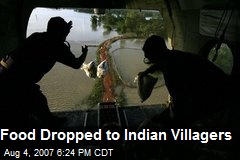 Food Dropped to Indian Villagers