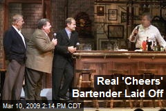Real 'Cheers' Bartender Laid Off