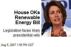 House OKs Renewable Energy Bill
