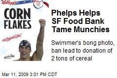 Phelps Helps SF Food Bank Tame Munchies