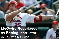 McGwire Resurfaces as Batting Instructor
