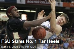 FSU Slams No. 1 Tar Heels