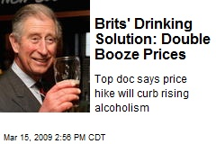 Brits' Drinking Solution: Double Booze Prices