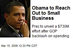 Obama to Reach Out to Small Business