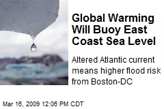 Global Warming Will Buoy East Coast Sea Level