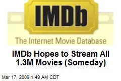 IMDb Hopes to Stream All 1.3M Movies (Someday)
