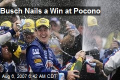 Busch Nails a Win at Pocono