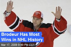 Brodeur Has Most Wins in NHL History