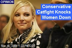 Conservative Catfight Knocks Women Down