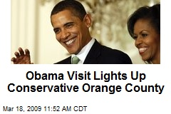 Obama Visit Lights Up Conservative Orange County