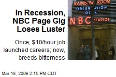 In Recession, NBC Page Gig Loses Luster