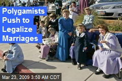 Polygamists Push to Legalize Marriages