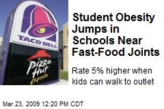 Student Obesity Jumps in Schools Near Fast-Food Joints