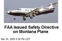 FAA Issued Safety Directive on Montana Plane