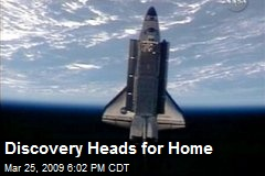 Discovery Heads for Home