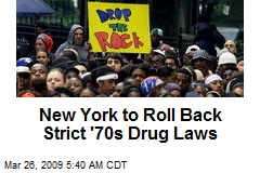 New York to Roll Back Strict '70s Drug Laws
