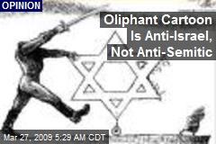 Oliphant Cartoon Is Anti-Israel, Not Anti-Semitic