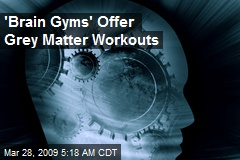 'Brain Gyms' Offer Grey Matter Workouts
