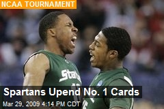 Spartans Upend No. 1 Cards