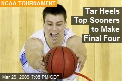 Tar Heels Top Sooners to Make Final Four