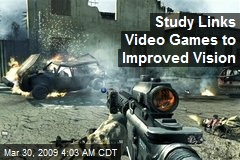 Study Links Video Games to Improved Vision