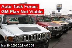 Auto Task Force: GM Plan Not Viable
