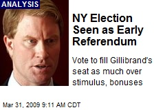 NY Election Seen as Early Referendum