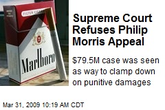 Supreme Court Refuses Philip Morris Appeal