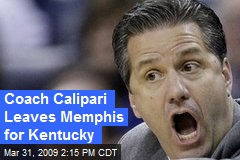 Coach Calipari Leaves Memphis for Kentucky