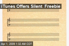 iTunes Offers Silent Freebie