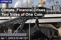 Climate, Financial Crises Two Sides of One Coin